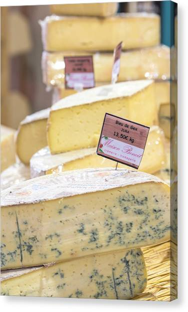 Food Cheese, Food Market, Dijon Canvas Print by Jim Engelbrecht