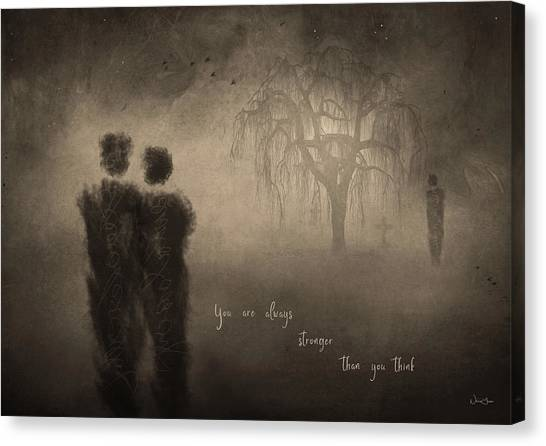 For Those Who Weep Canvas Print by Norma Slack