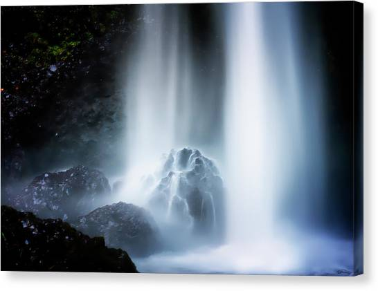Canvas Print featuring the photograph Force Of Water by Dee Browning