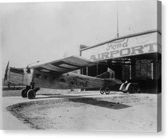 Ford Airport Canvas Print by General Photographic Agency