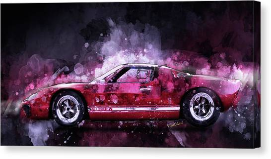 Ford Gt 40 Night Moves Canvas Print