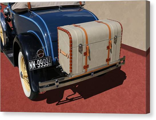 Canvas Print featuring the photograph 1931 Ford Model A Roadster by Debi Dalio