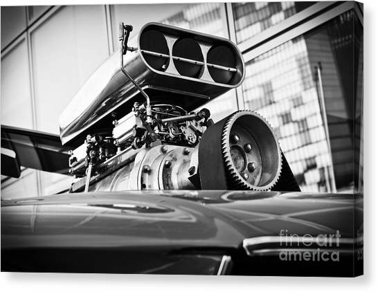 Ford Mustang Vintage Motor Engine Canvas Print
