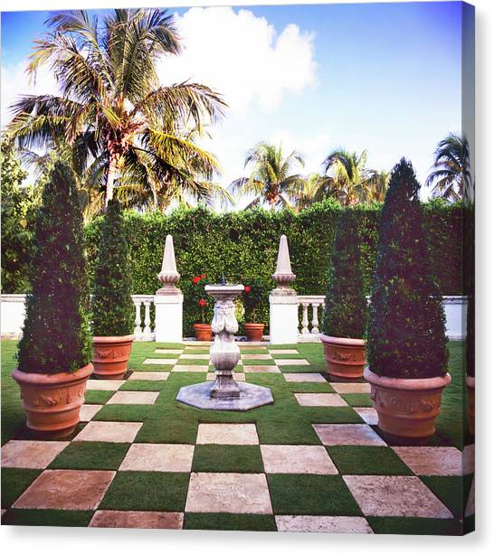 Formal Garden Canvas Print