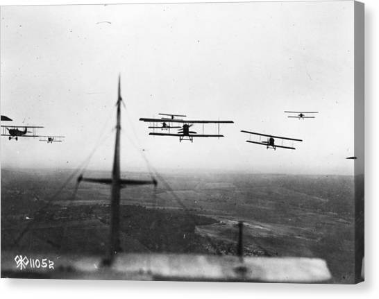 Formation Flying Canvas Print by Hulton Archive