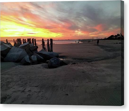 Fort Moultrie Sunset Canvas Print
