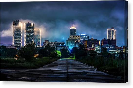 Canvas Print featuring the photograph Fort Worth Lights by David Morefield
