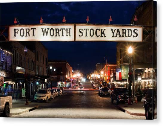 Fort Worth Stock Yards 112318 Canvas Print