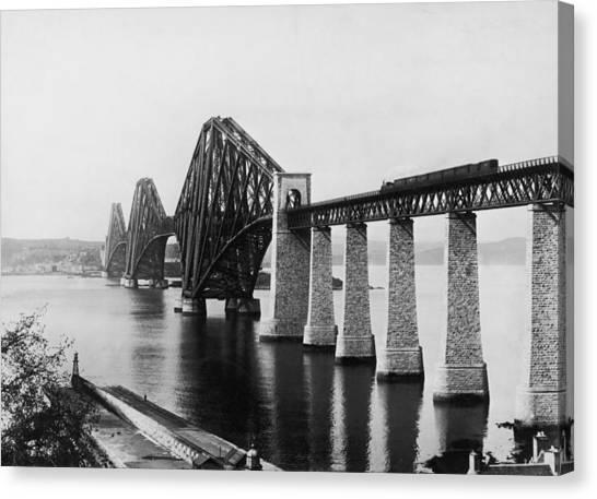 Forth Railway Bridge Canvas Print by Hulton Archive