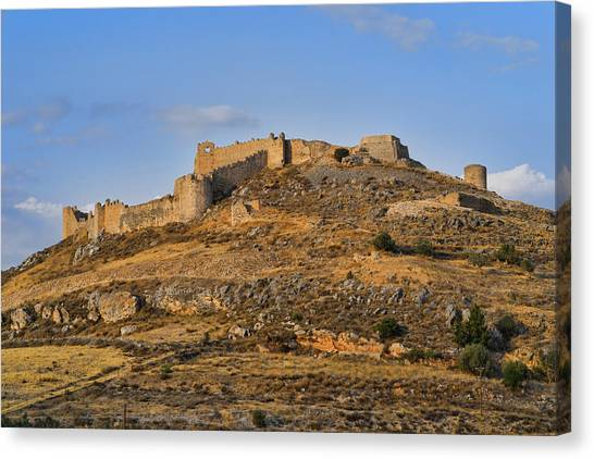 Canvas Print featuring the photograph Fortress Larissa by Milan Ljubisavljevic