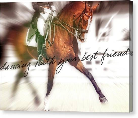 Canvas Print featuring the photograph Forward Motion by JAMART Photography