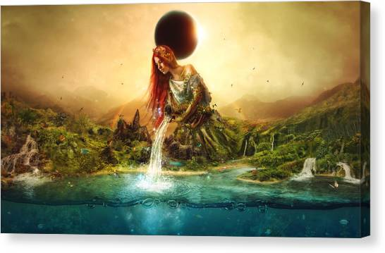 Fairytale Canvas Print - Fountain Of Eternity by Mario Sanchez Nevado