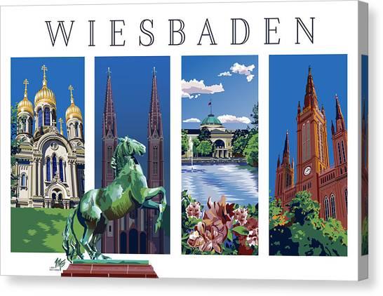 Four Views Of Wiesbaden Canvas Print