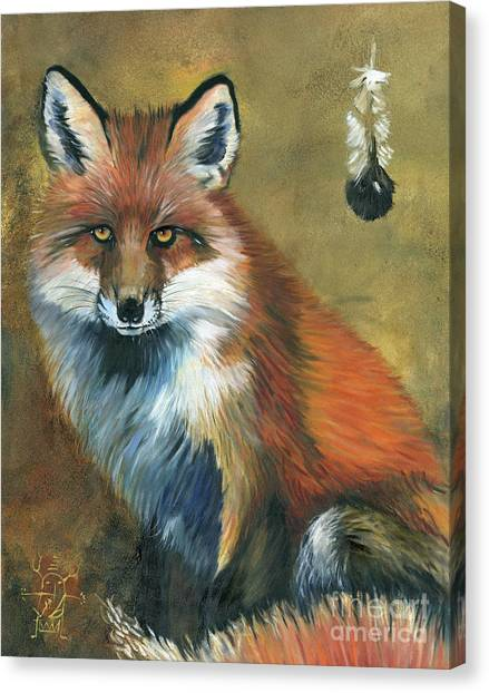 Fox Shows The Way Canvas Print