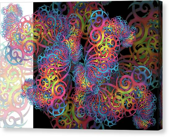 Fractal Illusion Canvas Print