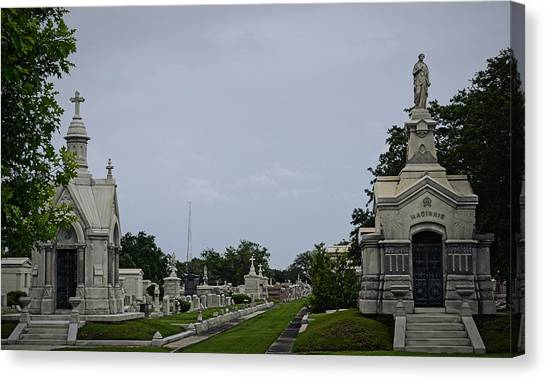 Framed In The Cemetery Canvas Print