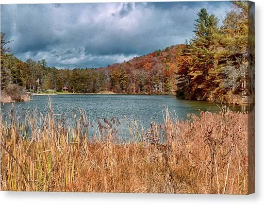 Framed Lake Canvas Print