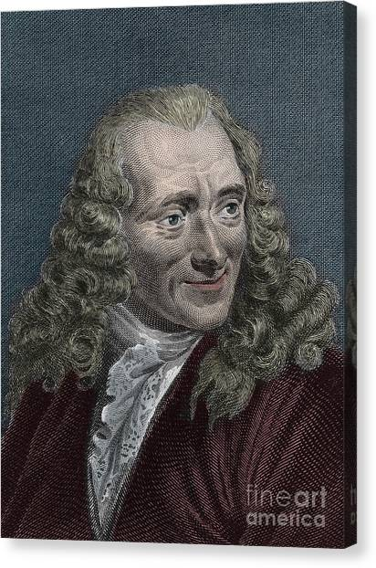 Long Hair Canvas Print - Francois-marie Arouet Or Voltaire by French School