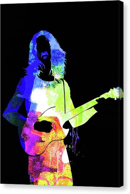 Frank Zappa Canvas Print - Frank Watercolor II by Naxart Studio