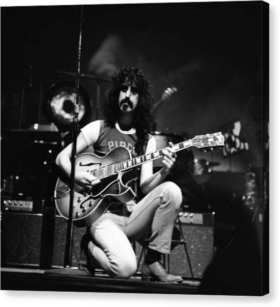Frank Zappa Canvas Print - Frank Zappa And The Mothers In Ny by Donaldson Collection