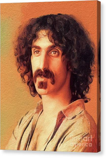 Frank Zappa Canvas Print - Frank Zappa, Music Legend by John Springfield