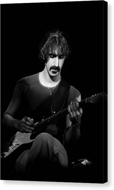 Frank Zappa Canvas Print - Frank Zappa Performs Live by Richard Mccaffrey
