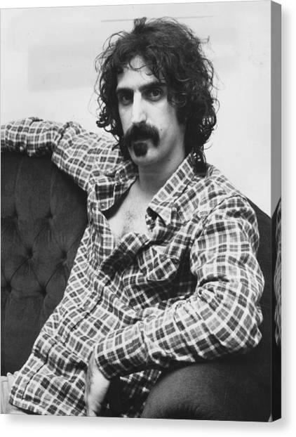 Frank Zappa Canvas Print - Frank Zappa by Roger Allston