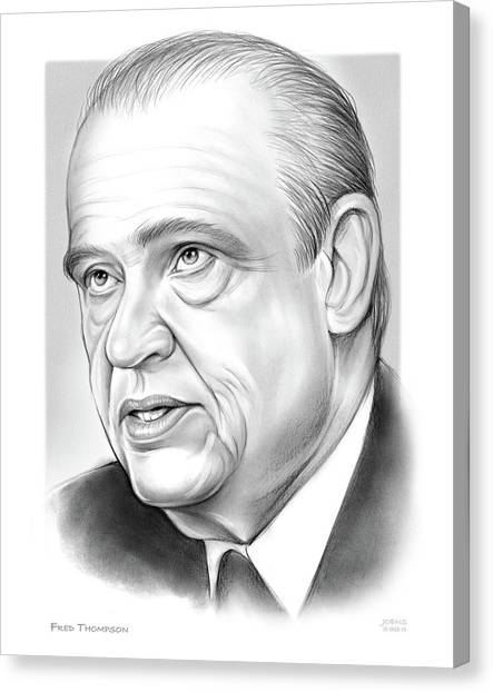 Personality Canvas Print - Fred Thompson by Greg Joens