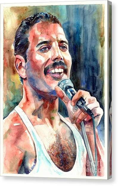 Phoenix Canvas Print - Freddie Mercury Live Aid by Suzann's Art
