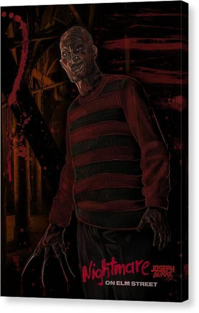 Freddy Krueger Canvas Print by Joseph Burke