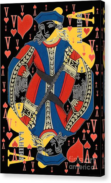 French Playing Card - Lahire, Valet De Coeur, Jack Of Hearts Pop Art - #2 Canvas Print