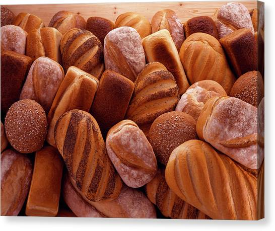 Buns Canvas Print - Fresh Bread Loaves by Terry Mccormick