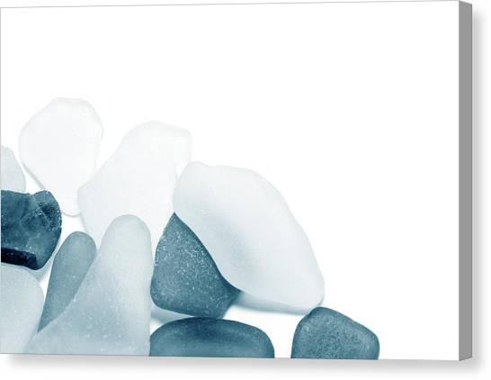 Fresh Glass Stones Canvas Print