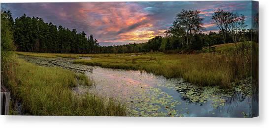 Friendship Panorama  Sunrise Landscape Canvas Print