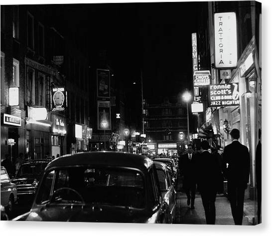 Frith Street By Night Canvas Print