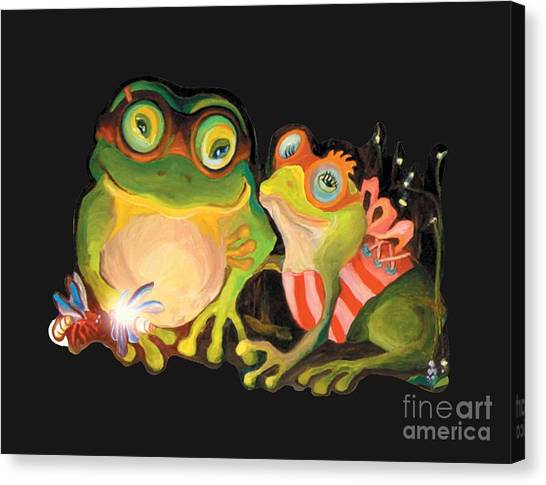 Frogs Overlay  Canvas Print