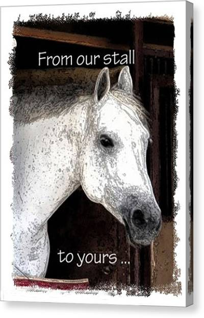 Canvas Print featuring the photograph From Our Stall To Yours by Jerry Sodorff
