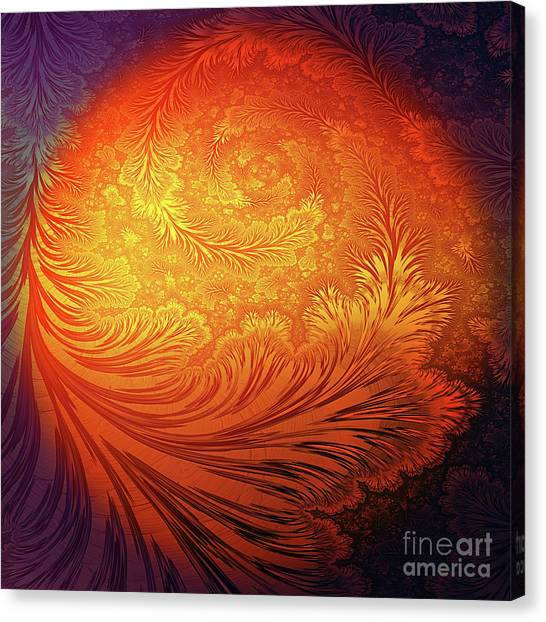 Block Canvas Print - Frost On The Sun by John Edwards