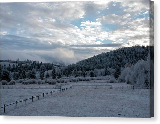 Frosted Sunrise 1 Canvas Print