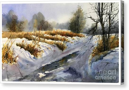 Appalachian Canvas Print - Frozen Brook by Suzann Sines