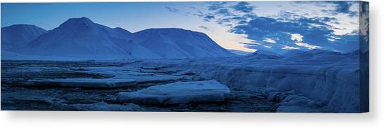 frozen coastline near Longyearbyen Canvas Print