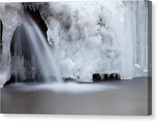 Frozen Waterfall Canvas Print by Terryfic3d