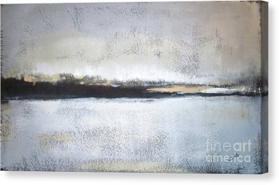 Abstract Canvas Print - Frozen Winter Lake by Vesna Antic