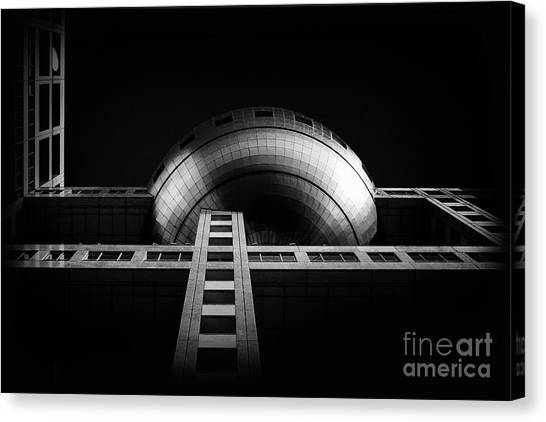 Fuji Tv Building In Tokyo Canvas Print by Delphimages Photo Creations
