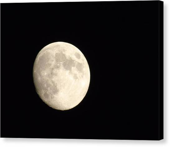 Satellite Canvas Print - Full Moon by Yohana Negusse