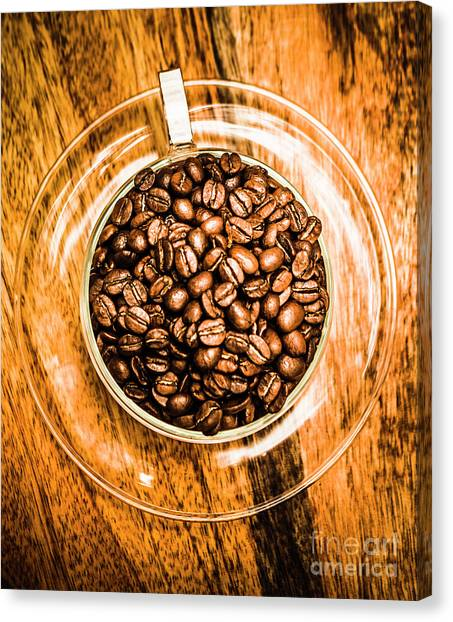 Saucer Canvas Print - Full Of Beans by Jorgo Photography - Wall Art Gallery