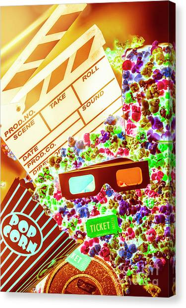 Popcorn Canvas Print - Funky Film Festival by Jorgo Photography - Wall Art Gallery