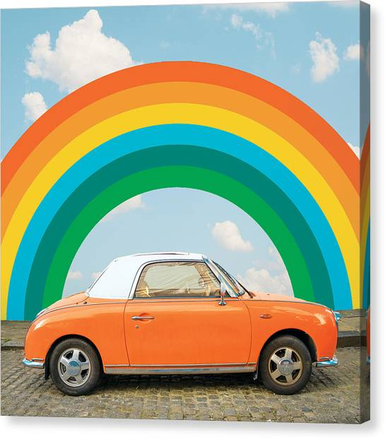 Funky Rainbow Ride Canvas Print