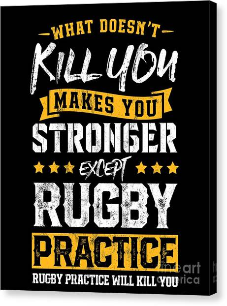 de322df92 Awesome Quote Canvas Print - Funny Rugby Player Tshirt Practice Team Coach  Gift by Noirty Designs
