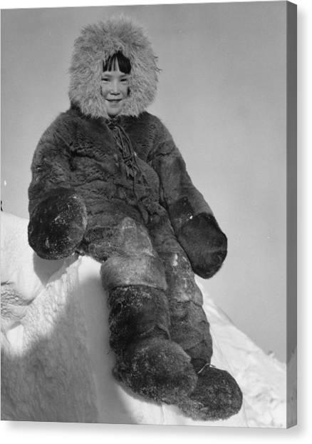 Fur Suit Canvas Print